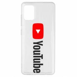 Чехол для Samsung A51 Youtube logotype