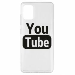 Чохол для Samsung A51 Youtube vertical logo