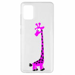 Чехол для Samsung A51 Жираф
