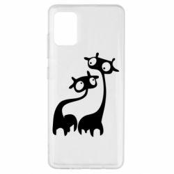 Чехол для Samsung A51 Жирафы