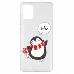 Чохол для Samsung A51 Зимовий пингвинчик