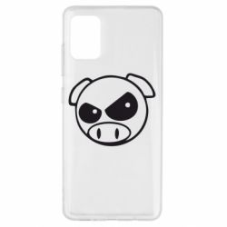 Чехол для Samsung A51 Злая свинка