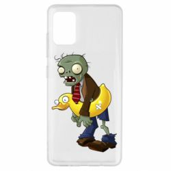 Чехол для Samsung A51 Zombie with a duck