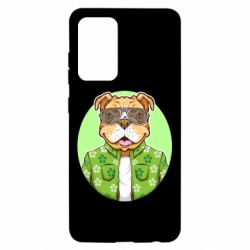 Чохол для Samsung A52 5G A dog with glasses and a shirt