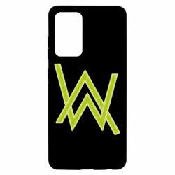 Чехол для Samsung A52 5G Alan Walker neon logo
