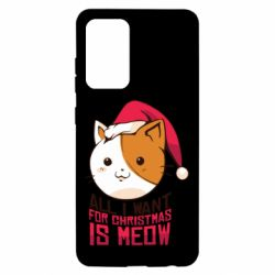Чехол для Samsung A52 5G All i want for christmas is meow