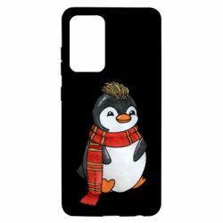 Чохол для Samsung A52 5G Baby penguin with a scarf