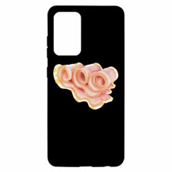 Чехол для Samsung A52 5G Bacon with flowers on the background