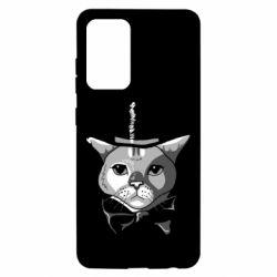 Чохол для Samsung A52 5G Black and white cat intellectual