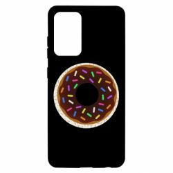 Чохол для Samsung A52 5G Brown donut on a background of patterns