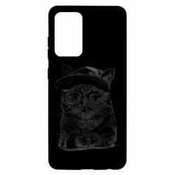 Чохол для Samsung A52 5G Cat in glasses and a cap