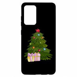 Чехол для Samsung A52 5G Christmas tree and gifts art