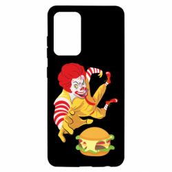 Чехол для Samsung A52 5G Clown in flight with a burger