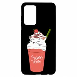 Чехол для Samsung A52 5G Cocktail cat and strawberry