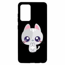 Чохол для Samsung A52 5G Cute cat with big eyes