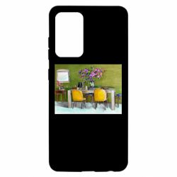Чохол для Samsung A52 5G Dining table with flowers