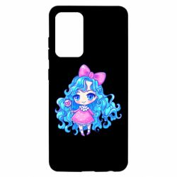 Чохол для Samsung A52 5G Doll with blue hair