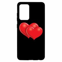 Чехол для Samsung A52 5G Два сердца