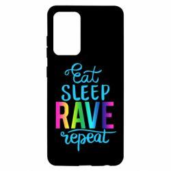Чохол для Samsung A52 5G Eat, sleep, RAVE, repeat