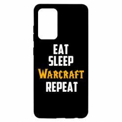 Чехол для Samsung A52 5G Eat sleep Warcraft repeat