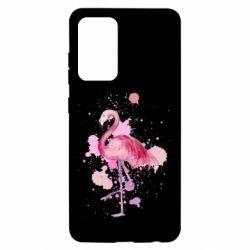 Чохол для Samsung A52 5G Flamingo pink and spray