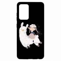 Чохол для Samsung A52 5G Girl with a lama