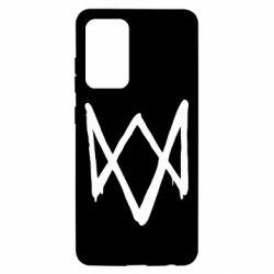 Чехол для Samsung A52 5G Graffiti Watch Dogs logo