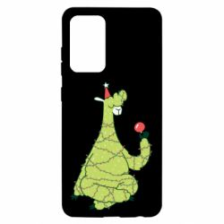 Чехол для Samsung A52 5G Green llama with a garland