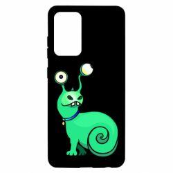 Чехол для Samsung A52 5G Green monster snail