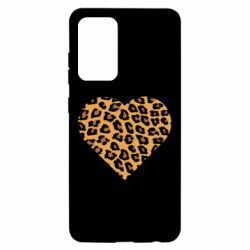 Чехол для Samsung A52 5G Heart with leopard hair