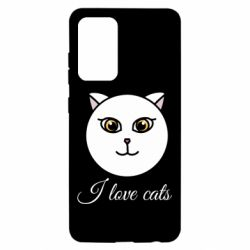 Чохол для Samsung A52 5G I love cats art