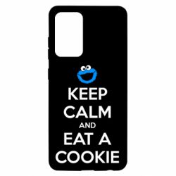 Чехол для Samsung A52 5G Keep Calm and Eat a cookie