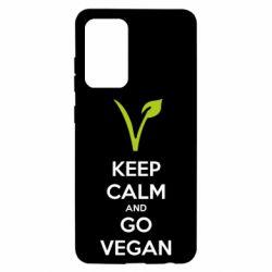 Чехол для Samsung A52 5G Keep calm and go vegan