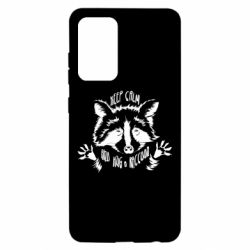 Чохол для Samsung A52 5G Keep calm and hug a raccoon