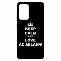 Чохол для Samsung A52 5G Keep calm and love AC Milan