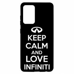 Чехол для Samsung A52 5G KEEP CALM and LOVE INFINITI
