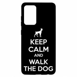Чохол для Samsung A52 5G KEEP CALM and WALK THE DOG