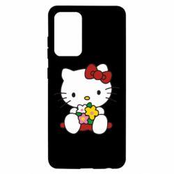 Чехол для Samsung A52 5G Kitty с букетиком