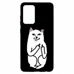 Чехол для Samsung A52 5G Кот с факом