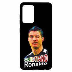 Чохол для Samsung A52 5G Крістіано Роналдо, полігональний портрет