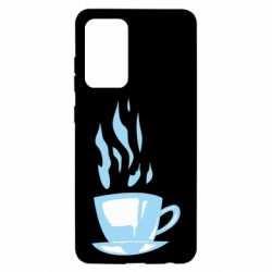 Чехол для Samsung A52 5G Light blue cup of coffee