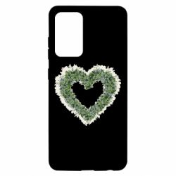Чехол для Samsung A52 5G Lilies of the valley in the shape of a heart