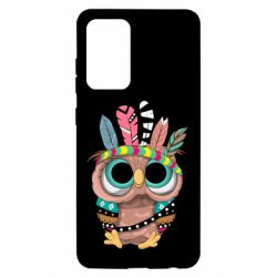 Чохол для Samsung A52 5G Little owl with feathers