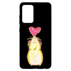 Чохол для Samsung A52 5G Морська свинка і сердечко