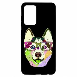 Чохол для Samsung A52 5G Multi-colored dog with glasses