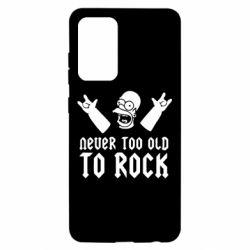 Чехол для Samsung A52 5G Never old to rock (Gomer)