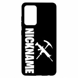 Чохол для Samsung A52 5G Nickname fortnite weapons