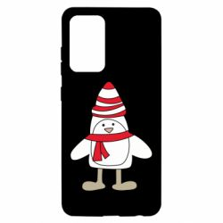 Чехол для Samsung A52 5G Penguin in the hat and scarf