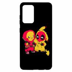 Чехол для Samsung A52 5G Pikachu and deadpool