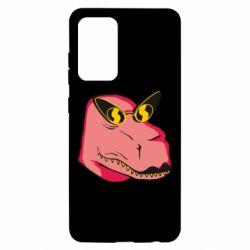 Чохол для Samsung A52 5G Pink dinosaur with glasses head